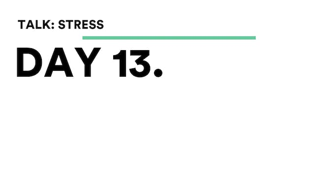 Day 13 - Talk: Stress