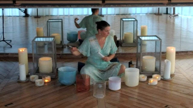 Crystal singing bowls with Alice Rose