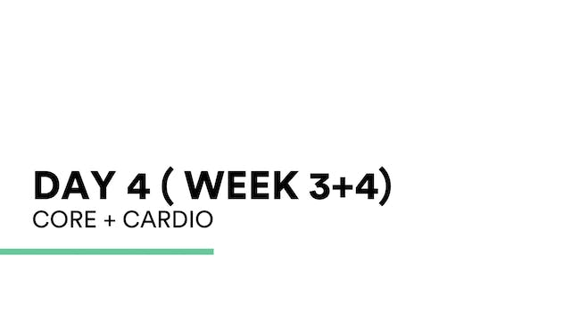 Core + Cardio (week 3+4 | Day 4)