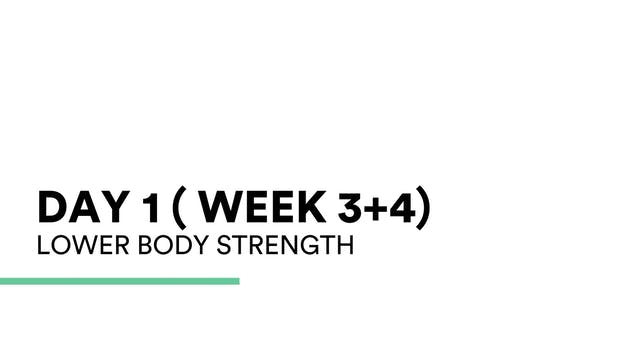 Lower Body Strength (week 3+4 | Day 1)