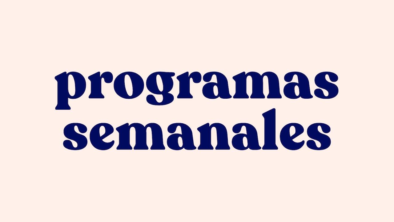 programas semanales