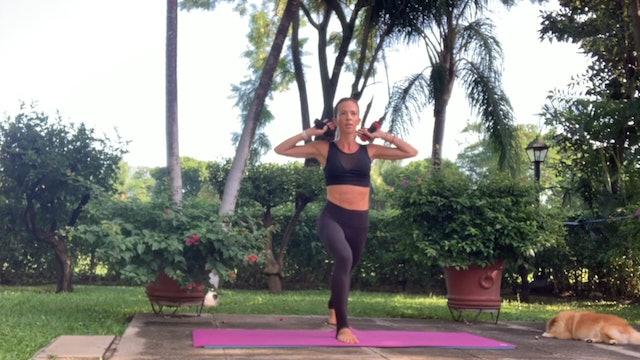 30 min pilates fit cuerpo entero con mancuernas