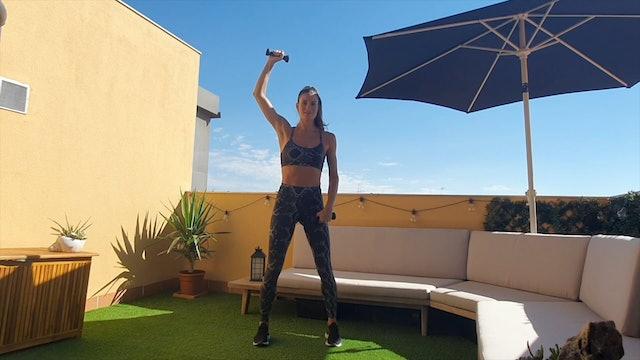12 min entrenamiento funcional brazos fuertes con mancuernas