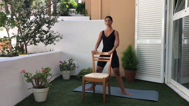 9 min ballet fitness con silla cuerpo...