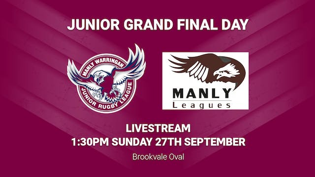Manly Juniors Grand Final Day Sunday
