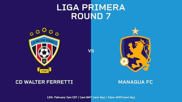 Liga Primera R7: CD Walter Ferretti vs Managua FC