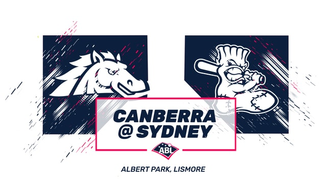 Sydney Blue Sox - Canberra Cavalry Game 1