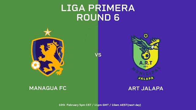 Liga Primera R6: Managua FC vs ART Jalapa