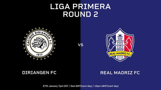Liga Primera R2: Diriangén FC vs Real...