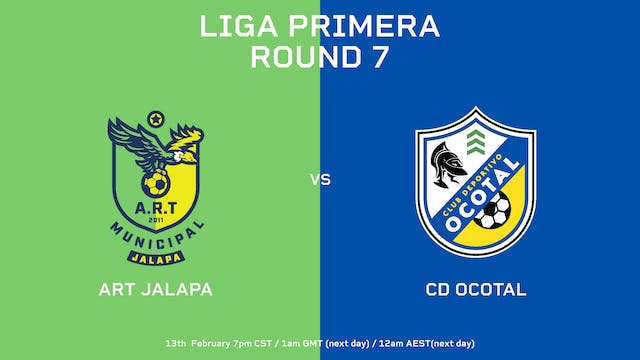 Liga Primera R7: ART Jalapa vs CD Oco...