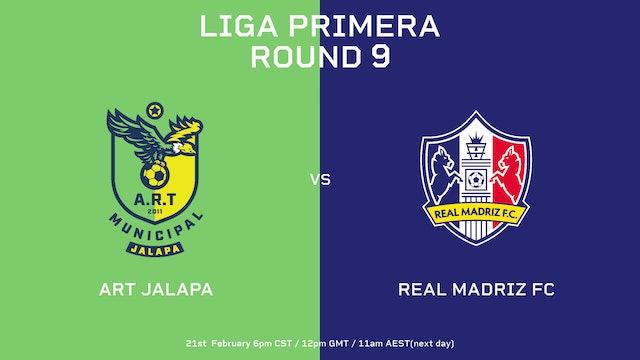 Liga Primera R9: ART Jalapa vs Real Madriz FC