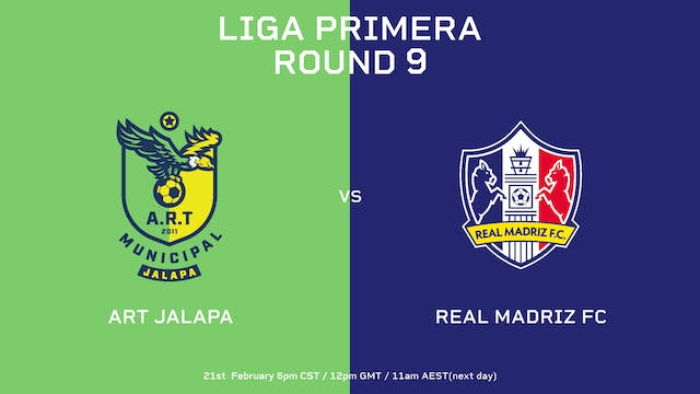Liga Primera R9: ART Jalapa vs Real M...
