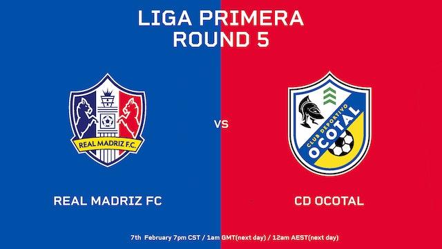 Real Madriz FC vs CD Ocotal    Round 5