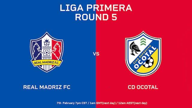 Liga Primera R5: Real Madriz FC vs CD...