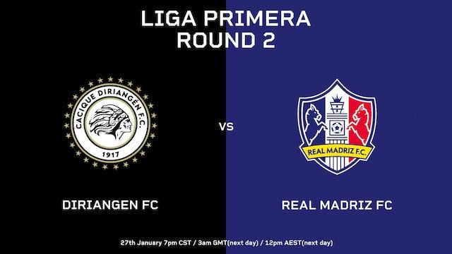 ESP | Liga Primera R2: Diriangén vs Real Madriz FC