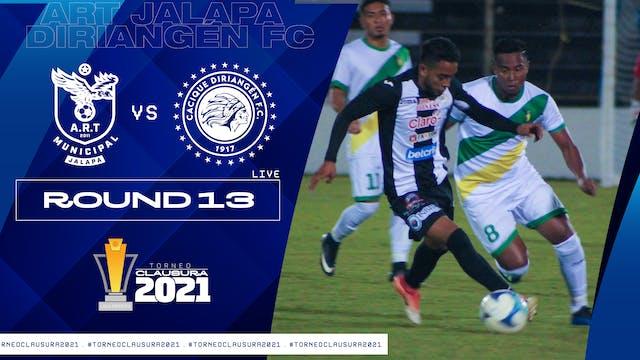 Liga Primera R13: ART Jalapa vs Diria...