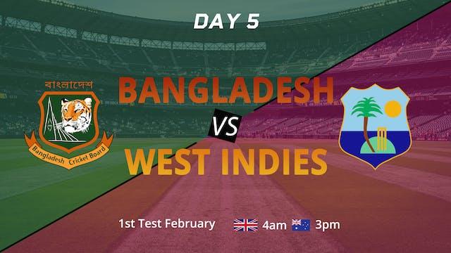 Bangladesh & West Indies 1st Test | Day 5