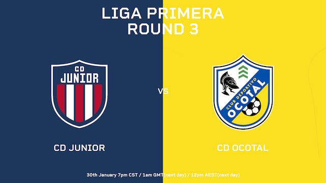 ESP | Liga Primera R3: CD Júnior vs C...