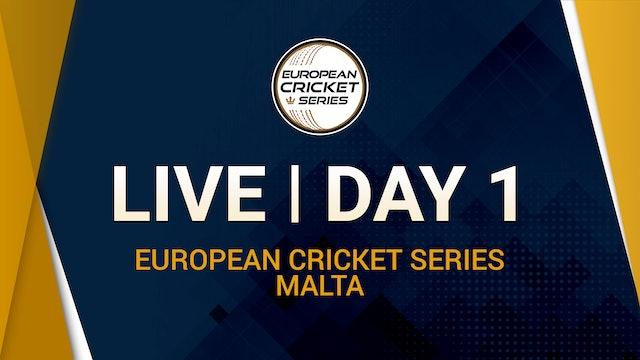 European Cricket Series Malta Day 1