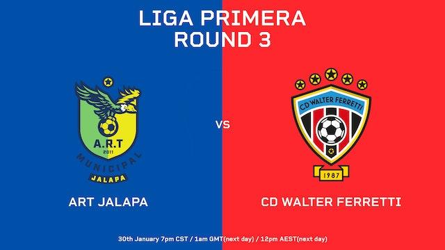 Liga Primera R3: ART Jalapa vs CD Walter Ferretti