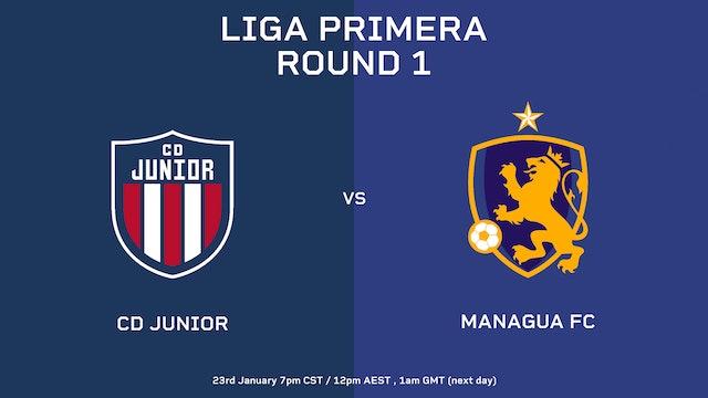 Liga Primera R1: CD Junior vs Managua FC