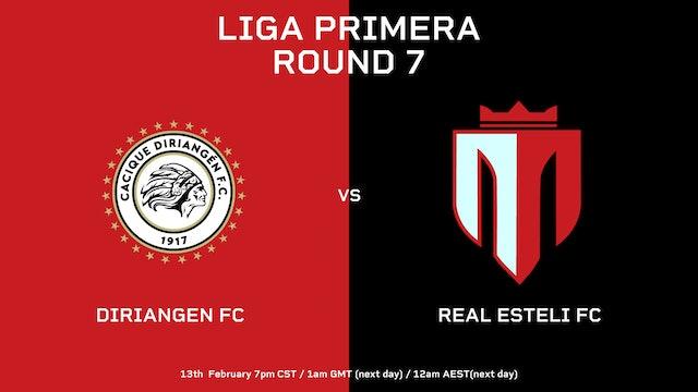 Liga Primera R7: Diriangén FC vs Real Estelí FC