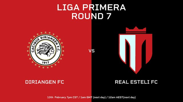 Liga Primera R7: Diriangén FC vs Real...