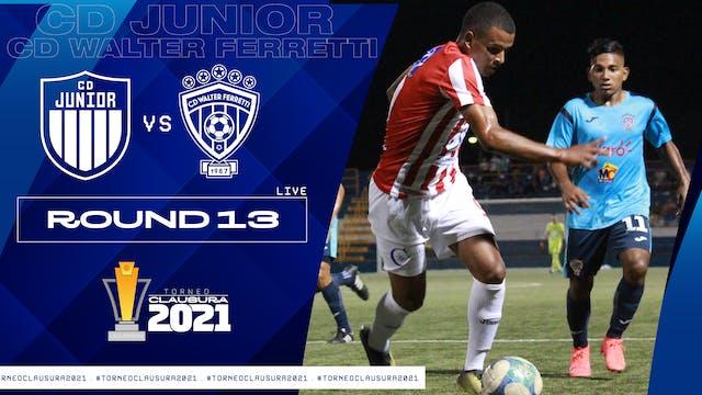 ESP | Liga Primera R13: CD Júnior vs ...