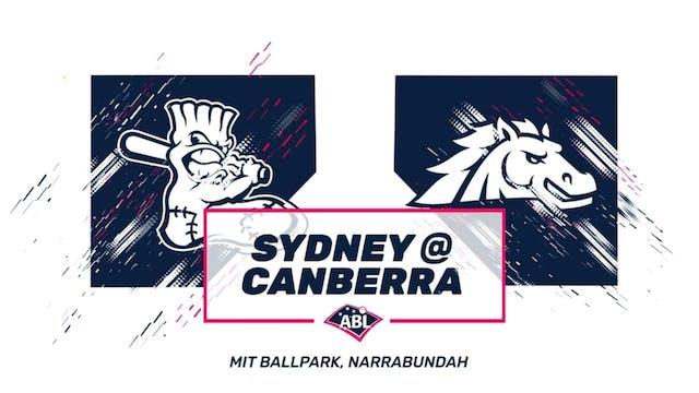 Canberra Cavalry - Sydney Blue Sox Ga...