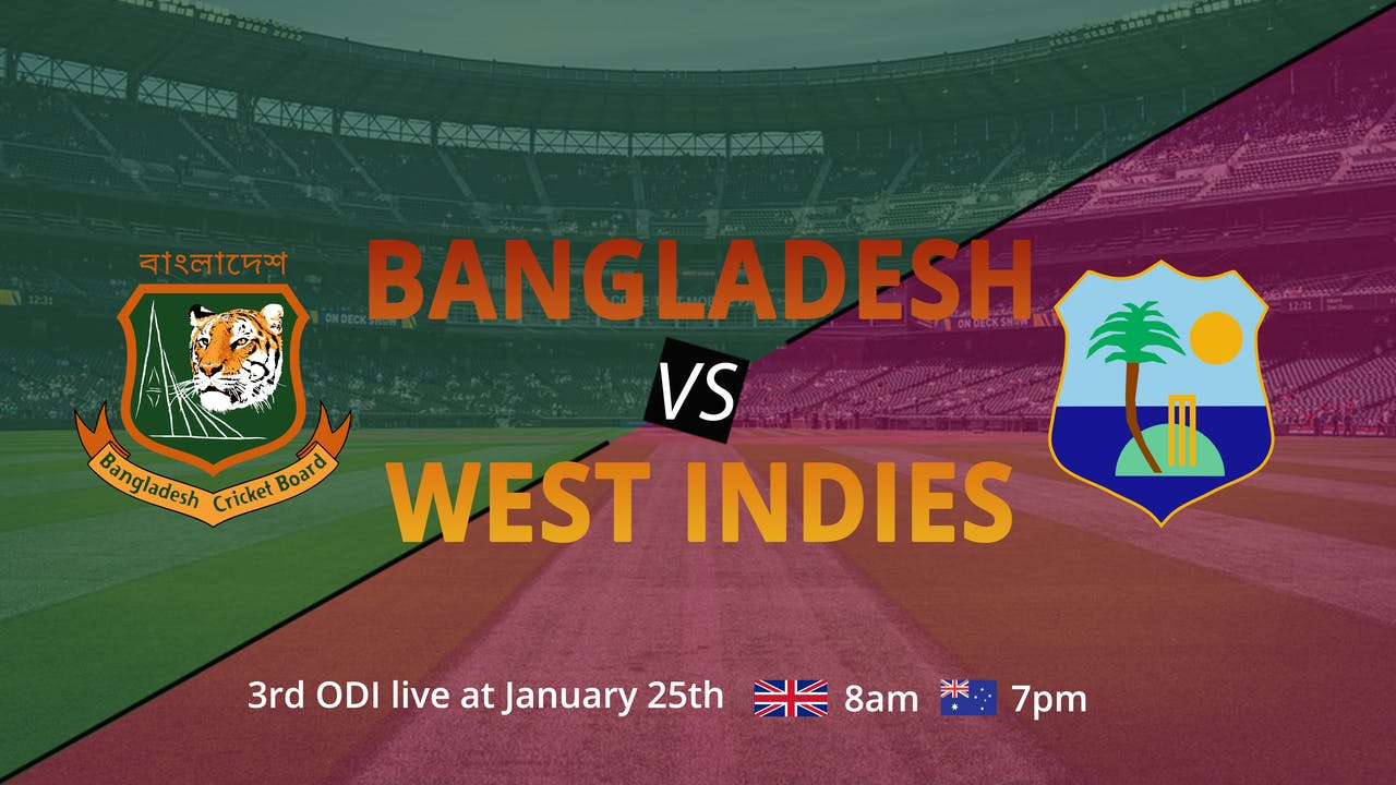 Bangladesh & West Indies - 3rd ODI