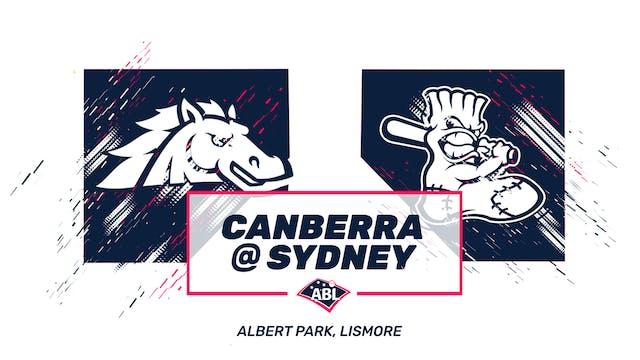 Sydney Blue Sox - Canberra Cavalry Ga...
