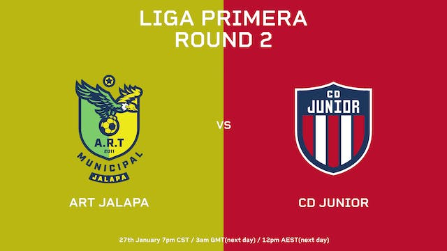 Liga Primera R2: ART Jalapa vs CD Junior