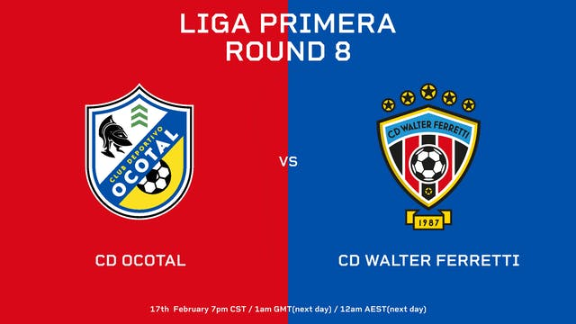 Liga Primera R8: CD Ocotal vs CD Walt...