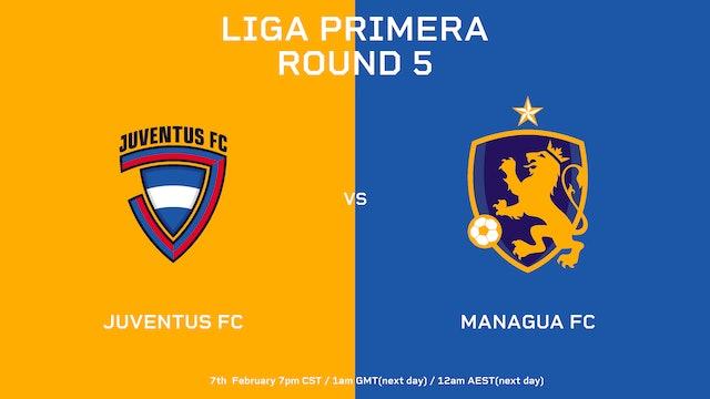 Liga Primera R5: Juventus FC vs Managua FC