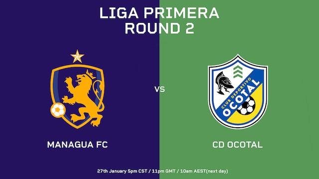 Liga Primera R2: Managua FC vs CD Ocotal