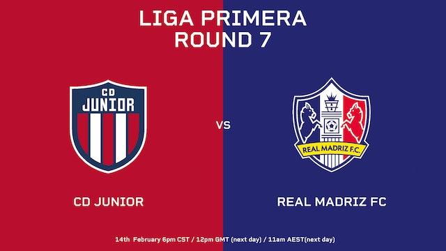 Liga Primera R7: CD Júnior vs Real Madriz FC