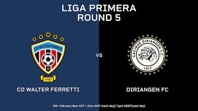 Liga Primera R5: CD Walter Ferretti v...