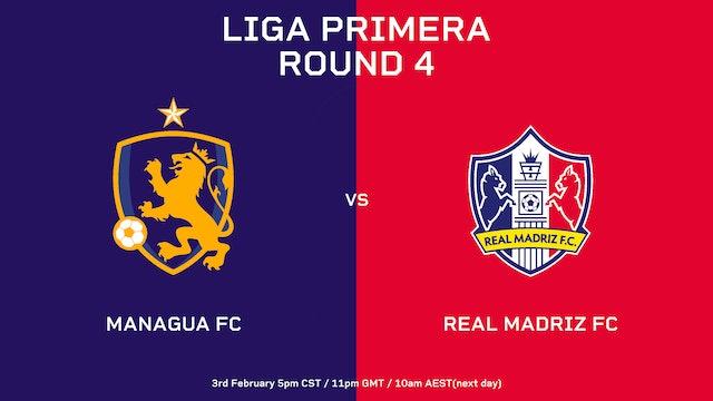 ESP | Liga Primera R4: Managua FC vs Real Madriz FC
