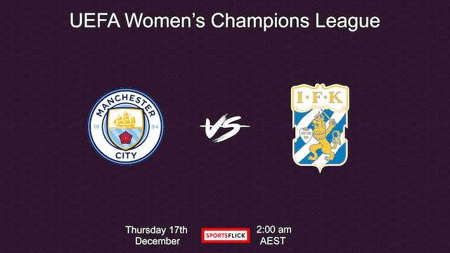 UWCL Manchester City vs Goteborg