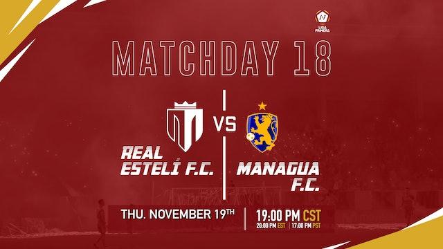 Real Esteli F.C. vs Managua F.C.