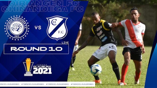 Liga Primera R10: Diriangén FC vs Chinandega FC