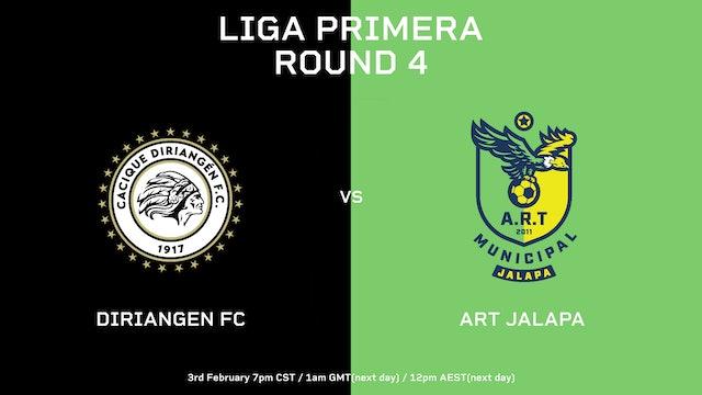 Liga Primera R4: Diriangén FC vs ART Jalapa