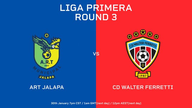 ESP | Liga Primera R3: ART Jalapa vs ...