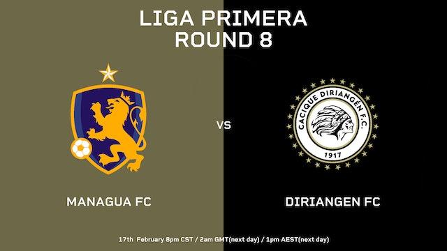 Liga Primera R8: Managua FC vs Diriangén FC