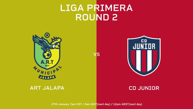 ESP | Liga Primera R2: ART Jalapa vs ...