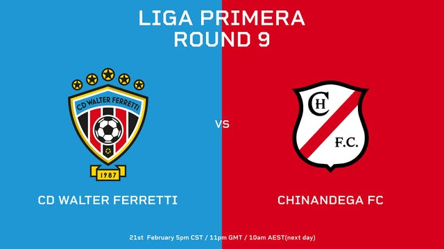 ESP | CD Walter Ferretti vs Chinandeg...
