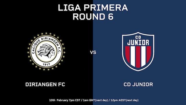 Diriangén FC vs CD Júnior   Round 6