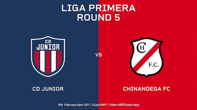 Liga Primera R5: CD Júnior vs Chinandega FC