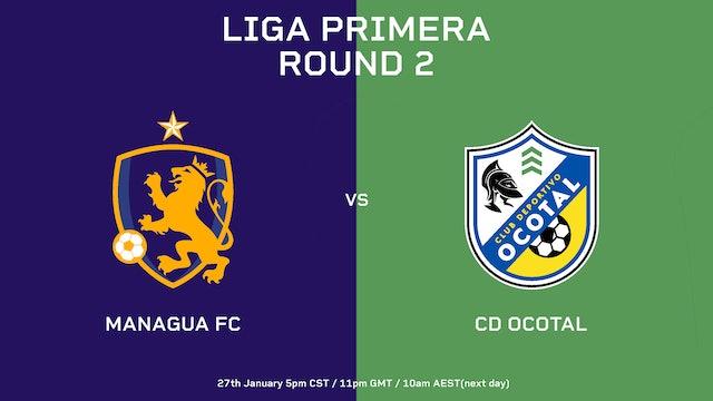 ESP | Liga Primera R2: Managua FC vs CD Ocotal