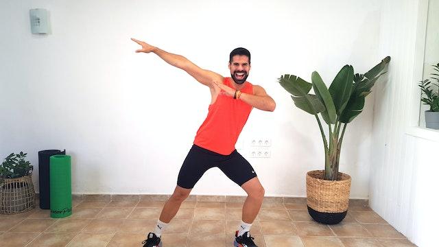Ju. 10:00 Baile deportivo | 50 min | Muévete al ritmo de Andrés Braganza